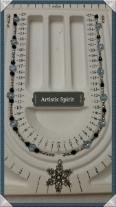 Snowflake necklace - design idea (notice the two different sides)