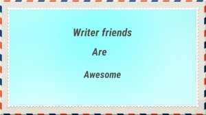 Writer friends